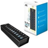 Vantec UGT-AH100U3 10Port USB3.0 Aluminum Hub w/ 48W 12V 4A Power Adapter (VantecUGT-AH100U3 )