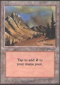 Magic: the Gathering - Mountain - Arabian Nights by Magic: the Gathering
