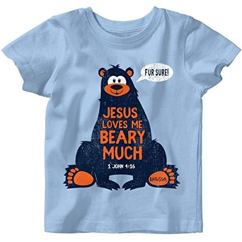 Kerusso Kids Jesus Loves Me T-Shirt -Light Blue-4M