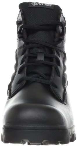 Bates Mens ZR-6 BLK 6 Inch Leather Nylon Uniform Boot Black 5EeFu4J