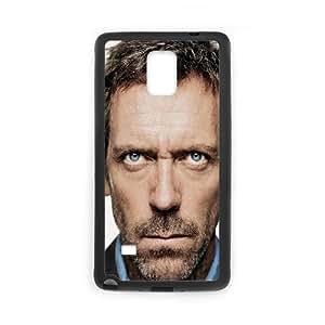 Hugh Laurie Blue Eyed Man Beard Tuxedo 7208 funda Samsung Galaxy Note 4 caja funda del teléfono celular del teléfono celular negro cubierta de la caja funda EEECBCAAJ11504