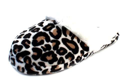 Luckers Womens Slippers Booties C Leopard White yZQ9kMz