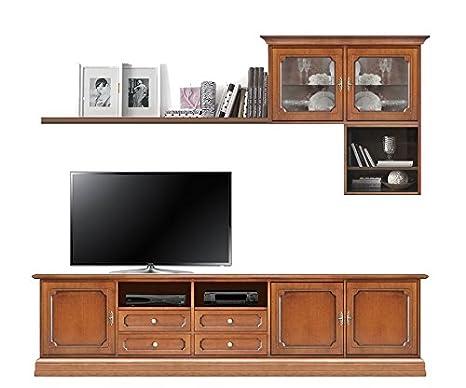 Arteferretto Composizione parete porta TV da salotto con mobile ...
