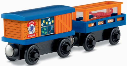 Thomas & Friends Fisher-Price Wooden Railway, Crawling Critters Cargo Car (Wooden Tank Car)