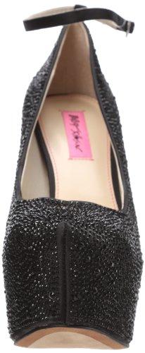 Betsey Johnson Ritzzz Mujer Negro Plataformas Zapatos Talla EU 40