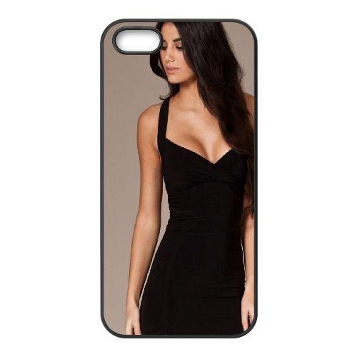 Brunette Dress Girl Style Beautiful 69826 coque iPhone 4 4S cellulaire cas coque de téléphone cas téléphone cellulaire noir couvercle EEEXLKNBC23870