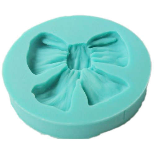 Jonkey 1pc Silicon Round Bowknot Fondant Cake Sugarcraft Decorating Mold Mould Tools