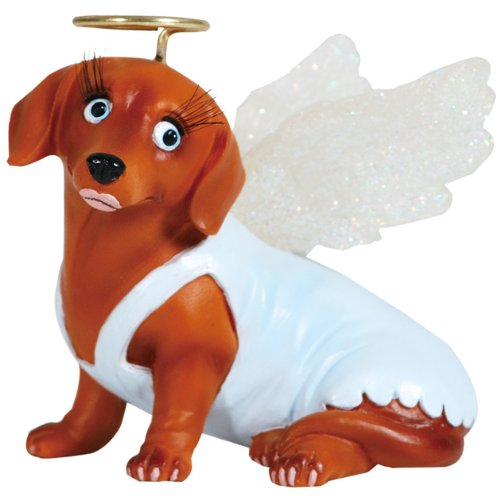 Westland Giftware Hot Diggity Resin Figurine 2 5 Inch Angel Doxie Home Garden Decor Seasonal