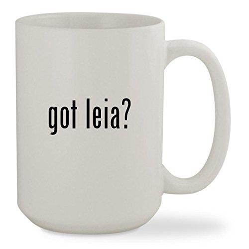 got leia? - 15oz White Sturdy Ceramic Coffee Cup Mug - Slave Leia Costume Disney