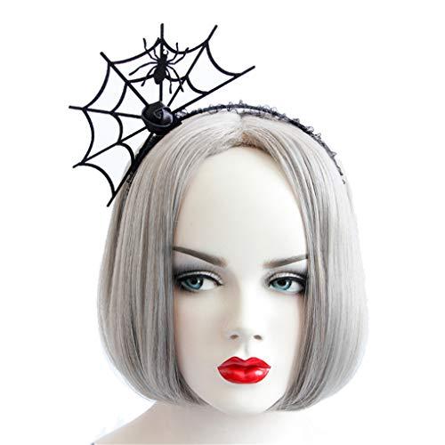 (Countonme Women Halloween Spider Web Hair Hoop Headband Cosplay Headdress Masquerade)