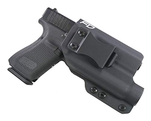 Fierce Defender IWB Kydex Holster Glock 19 23 32 w/Streamlight TLR1 The Winter Warrior Series -Made in USA- GEN 5 Compatible (Black)