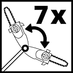 Einhell-3410835-Accessorio-per-potatori-a-palo-a-batteria-GE-HH1845Li-T-Lunghezza-di-taglio-17-cm-attacco-ruotabile-di-90–inclinabile-7-volte