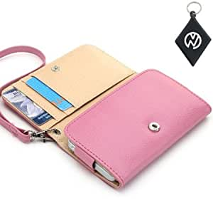 AT&T Fusion 2 Wallet - Pink Clutch Carrying Cover Case with Built-In Credit Card Slots and Detachable Handstrap...