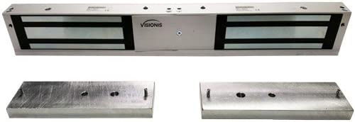 Visionis 1200D-LED Double 1,200 lbs Electromagnetic Lock CE Listed with LED Sensor