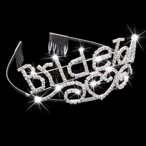 FidgetGear Crystal Bachelorette Tiara Party Crown Bride to Be Crown Wedding Headband from FidgetGear