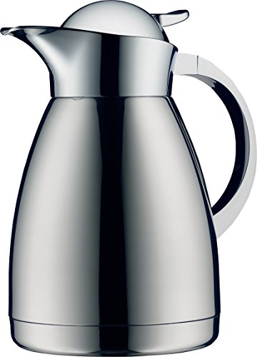 (Alfi Albergo 1.0 Liter Top Therm Vacuum Insulated Carafe for Hot and Cold Beverages, Stainless Steel)
