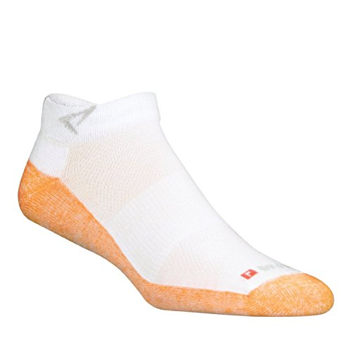 DryMax Maximum Protection Run Mini Crew, White/Orange, W10-12 / M8.5-10.5, 2 Pack by Drymax