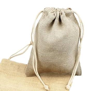 Amazon.com: bleached Color Blanco del Yute bolsas 5 x 7IN ...