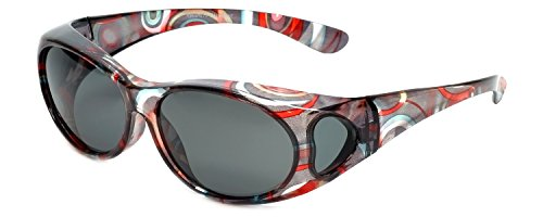 Calabria Polarized Fitover Sunglasses PC8866POL-JP-2 Wear-Over - Fitovers Sunglasses
