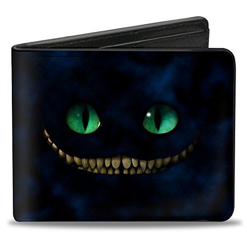 Buckle-Down Men's Tim Burton's Cheshire Cat Eyes & Teeth + Tree Pose, Multicolor, Standard Size