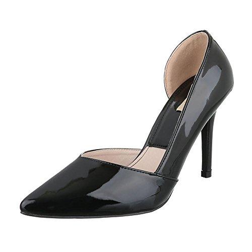 Ital-Design - Zapatos de vestir de Material Sintético para mujer negro