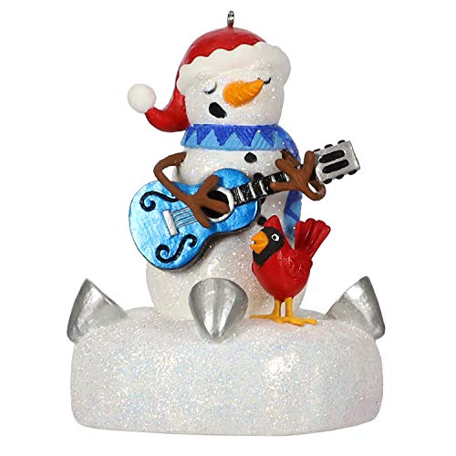 Hallmark Keepsake Ornament 2019 Year Dated Snowman with Light and Sound (Plays Blue Christmas Song)