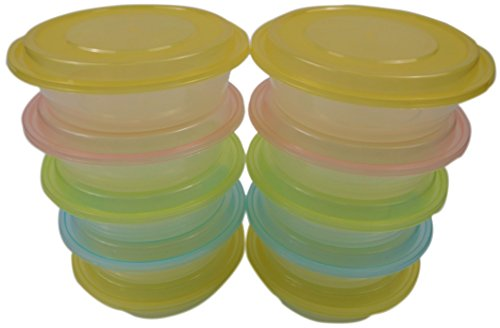 Round Bento Box (Table To Go 50-Pack Round Bento Lunch Boxes with Lids (1 Compartment/ 24 oz) (Multicolor Lids))