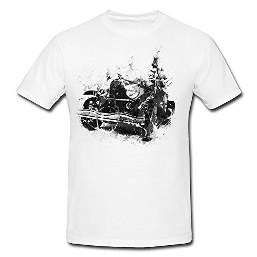 Oldtimer Art T-Shirt Herren, weiß mit Aufdruck