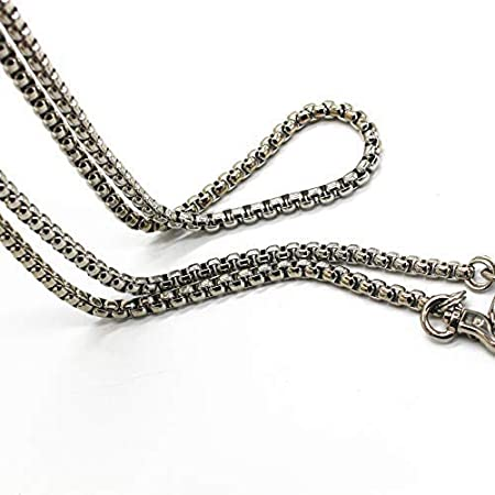 LONG TAO 55 DIY Iron Box Chain Strap Handbag Chains Accessories Purse Straps Shoulder Cross Body Replacement Straps Silver with 2 Metal Buckles