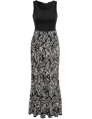 Buy black white print dress - 1