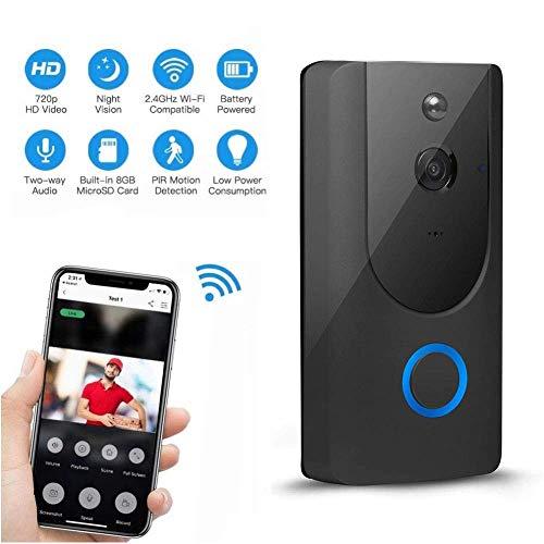 Mengen88 Video doorbell Wireless Video intercom,WiFi Smart APP Remote Conversation with Motion Detection IR Night Vision,Suitable for Villa,Home,Office Doorbell