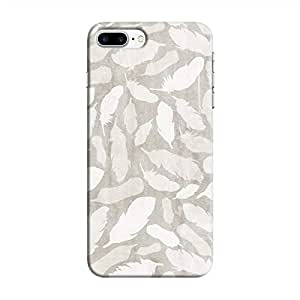 Cover It Up - Feather Grey Print iPhone 7 Plus Hard Case