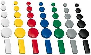 Pinnwand 10 Magnete Ø 38 mm verschiede Farben für Whiteboard Magnetboard Magn