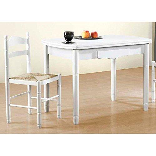 Amuebla 0314. Mesa DE Cocina DE 90 X 60 CM. Ovalada Extensible DE AL