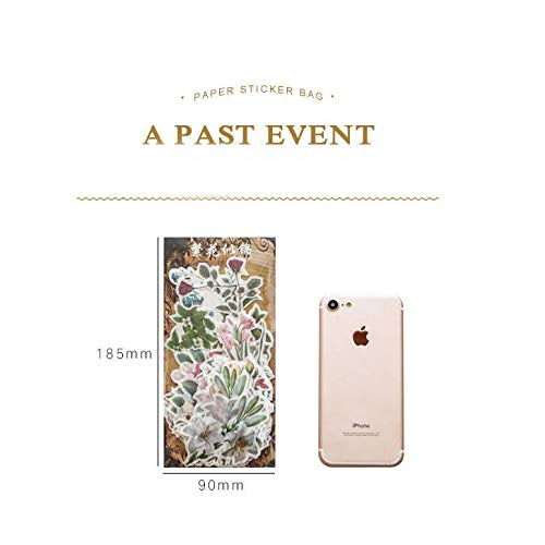 Rose Pad Lily Kid Craft Stickers Decals for Phone Scrapbook Diary STICON Cute Variety Spring Flowers Gardenia 60 Pieces Laptop Lavender etc