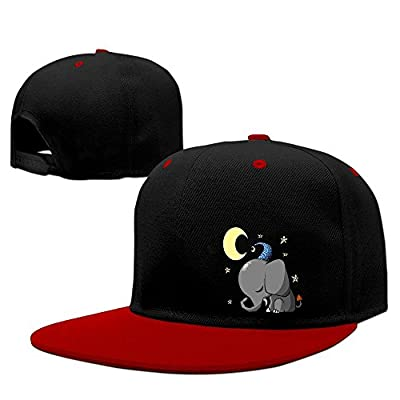 Elephant Sleep Well Solid Flat Bill Snapback Baseball Cap Hip Hop Unisex Custom Hat.