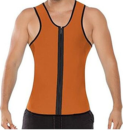 Mens Body Shapers Suit Vest Hot Neoprene Sauna Body Men Slimming Waist For Weight Loss AB Wear Brown Size - 5XL