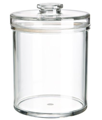 (SPA & Cosmetics storage system) Felliclassic round airtight canister. 6''x 6'' x 8''. (78oz/2.3L).Classic canister that decorate your space very well! Shatterproof, BPA Free.(U381963) by Felli-storage (Image #6)