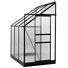 Ogrow OGAL-46 Aluminum Lean-To Greenhouse, Sliding Door and Roof Vent, 25 sq.ft.