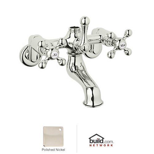Rohl AC13X-PN Exposed Tub Filler with Metal Cross Handles From Cisal Bath Collection In ()