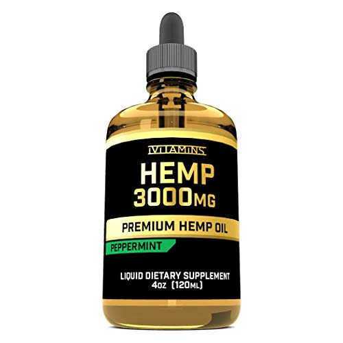 iVitamins Hemp Oil for Pain Anxiety Relief :: 3,000mg 4oz :: Natural Hemp Seed Extract :: May Help with Inflammation, Joints, Sleep, Mood + MORE :: Rich in Omega 3,6,9