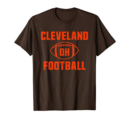 Ohio Cleveland Love Football Fan Brown Orange T-Shirt
