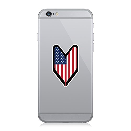 RDW American USDM Driver Badge - Cell Phone Sticker - Decal - Die - American Driver Badge