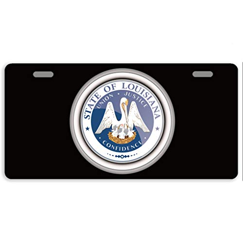 - Eprocase License Plate Cover States of USA Seals Louisiana Automotive License Plate Novelty Car Tag Metal Decorative Tags Auto Sign Front License Plates 2 Holes 11.8 x 6.1 Inches