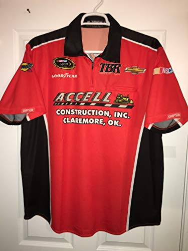 XL JJ Yeley ACCELL CONSTRUCTION COMPANY Regan Smith Nascar Pit Crew Shirt TBR Chevy Racing Simpson Tommy Baldwin Oklahoma Bulldozer