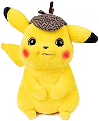 Amazon Com Detective Pikachu Plush Stuffed Animal Toy 9 5 Not Vacuum Packed Toys Games