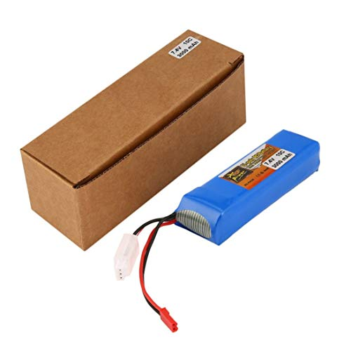 Baynne X9D Rechargeable Li-Poly Remote Control Battery 7.4V 3000mAh 10C Upgrade RC Battery for Transmitter Toys Accessories