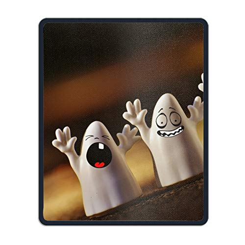 Mouse Mat,Personalized Non-Slip Mousepad for Office Work Travel Home Halloween Happy]()
