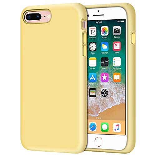 (iPhone 8 Plus Case, iPhone 7 Plus Case, Anuck Soft Silicone Gel Rubber Bumper Case Microfiber Lining Hard Shell Shockproof Full-Body Protective Case Cover for iPhone 7 Plus /8 Plus 5.5