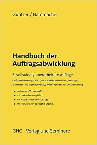Handbuch Der Auftragsabwicklung Kaufvertrag Werklieferungsvertrag